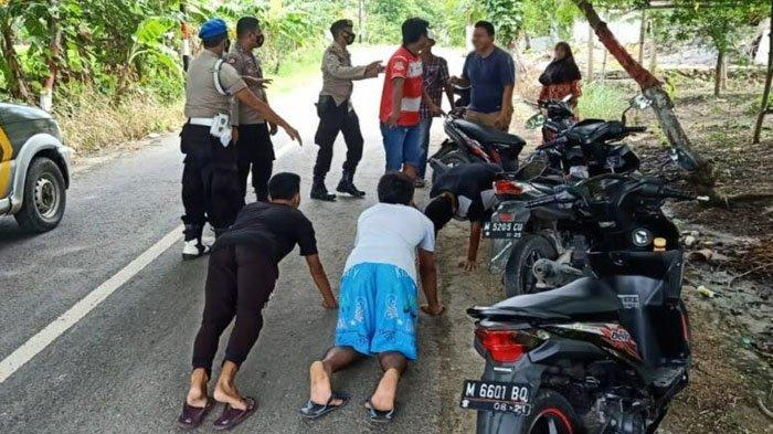 Operasi Yustisi di Kabupaten Pamekasan, Pelanggar Tak Pakai Masker Dihukum Push Up