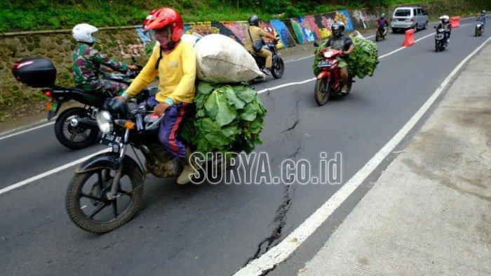 Jalur Kawasan Payung Retak, BPBD Kota Batu Siagakan Petugas di Lokasi
