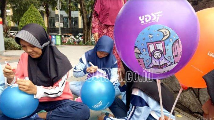 Sambut Bulan Ramadan, YDSF Ajak Anak-anak Yatim Binaan Melukis Harapan