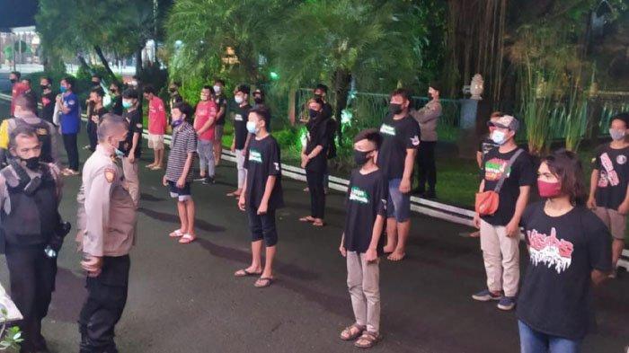 Puluhan ABG Bandel di Kabupaten Tulungagung Terjaring Razia Jam Malam, Sempat Bikin Gaduh