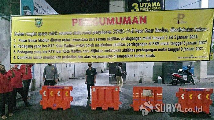 Pasar Besar Madiun Ditutup Tiga Hari, Ratusan Orang Jalani Rapid Test Massal