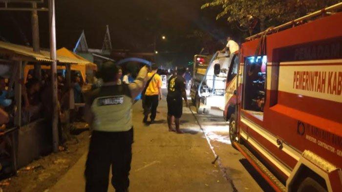 Pasar Kepoh Kabupaten Bojonegoro Ludes Terbakar, Diduga Akibat Korsleting Listrik