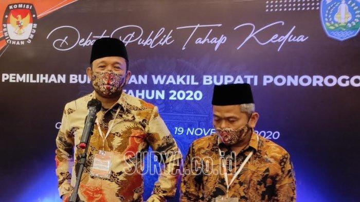 Pilkada Ponorogo 2020, Pasangan Ipong-Bambang Legowo dengan Hasil Akhir Rekapitulasi Suara