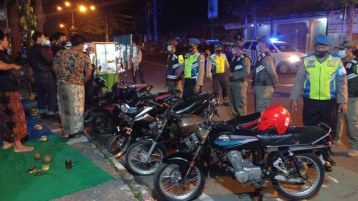 Patroli Gabungan Antisipasi Balap Liar Malam Minggu di Kediri