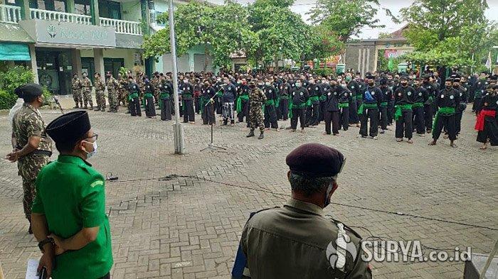 1.500 Pasukan Banom NU di Tuban Gelar Apel Siaga Pilkada Aman dan Damai