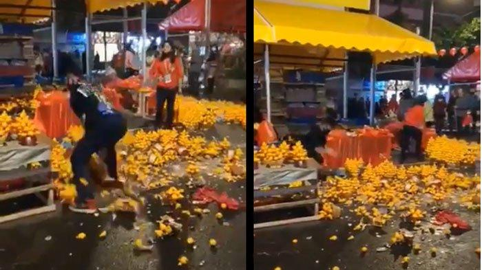 Warga China Ngamuk & Banting Jeruk ke Jalan Gara-gara Tak Laku, Kominfo Ungkap Fakta Sebenarnya