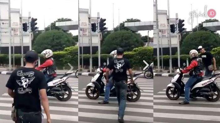 VIDEO - Viral! Lihat yang Dilakukan Pejalan Kaki Ini saat Pengendara Motor Nyerobot di Zebra Cross