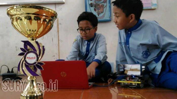 Dari Ekstrakurikuler, Pelajar SD Muhammadiyah Juarai Kompetisi Robot Level Asia