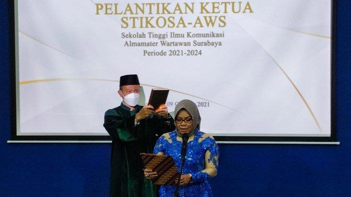 Meithiana Indrasari Resmi Jabat Ketua Stikosa-AWS Periode 2021-2024