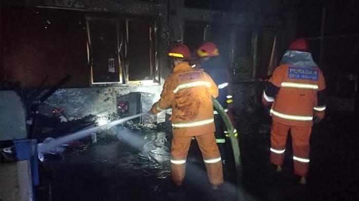 Diduga Korsleting Listrik, Laboratorium Manufaktur Teknik Industri Universitas Brawijaya Terbakar