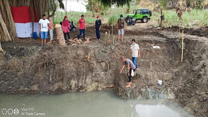 Ditemukan di Gresik, Susunan Batu di Sisi Kolam Diduga Sebagai Petirtaan era Kerajaan Majapahit