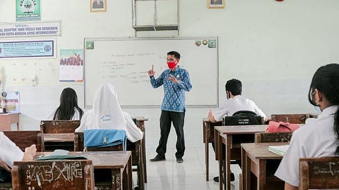 Siswa SMP di Kota Kediri Antusias Mengikuti Uji Coba Pembelajaran Tatap Muka