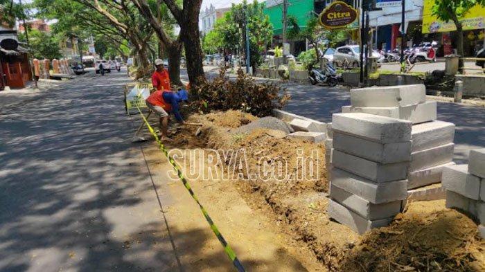 Percantik Taman Kota, Ruang Terbuka Hijau (RTH) di Sawojajar Kota Malang Diperbaiki