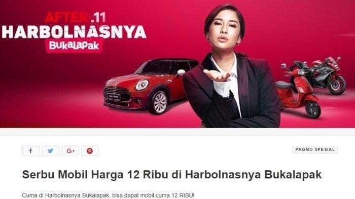 Pemenang Harbolnas Bukalapak 2018, Dedi Heryadi bermodal Rp 12 ribu dapat mobil Mini Cooper.