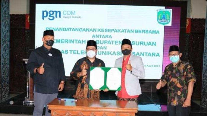 Pemkab Pasuruan MoU Bersama PGNCOM Bangun Jaringan Internet hIngga ke Pelosok