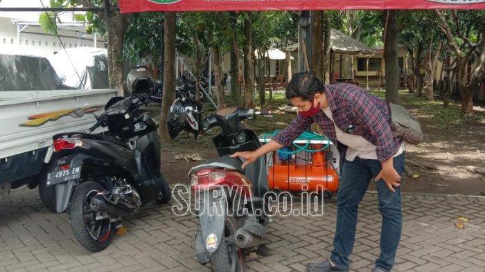 Servis Gratis Barang Bukti Kendaraan Bermotor yang akan Diambil Pemiliknya di Kejari Kota Malang