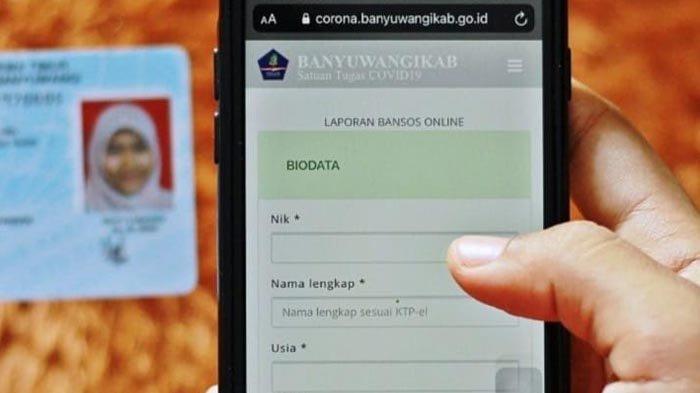 Belum Dapat Bansos, Warga Banyuwangi Cukup Lapor via Online Biar Dikirimi Sembako