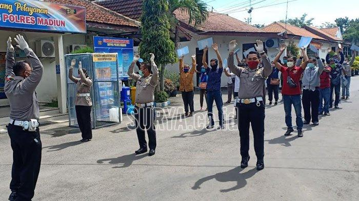 Pelayanan SIM Satpas Polres Madiun Kembali Dibuka, Pemohon Diajak Olahraga dan Jaga Jarak