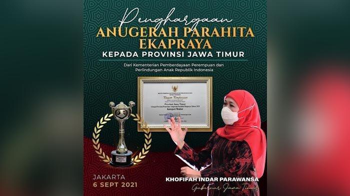 Berhasil Meningkatkan Indeks Kesetaraan Gender, Pemprov Jatim Raih Anugerah Parahita Ekapraya 2021