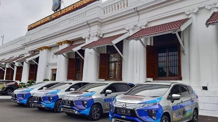 Sambut Zona Kuning dan Penurunan Level PPKM, Polrestabes Surabaya Tambah Unit Mobil Masker Keliling