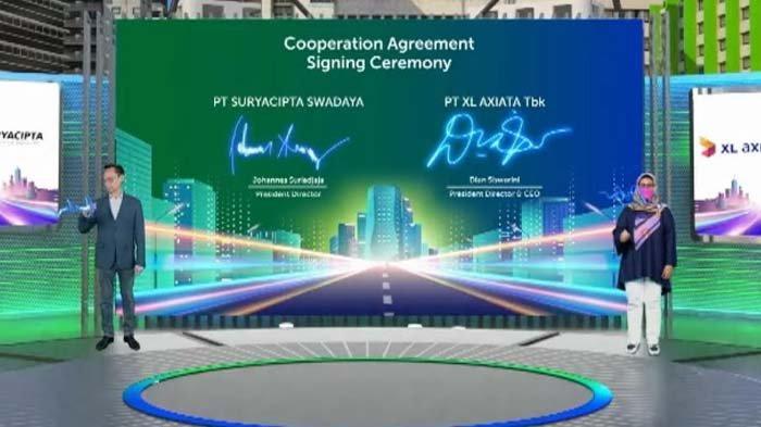 XL Axiata Gadeng PT Suryacipta Swadaya Sediakan Jaringan Fiber Optik di Kawasan Industri