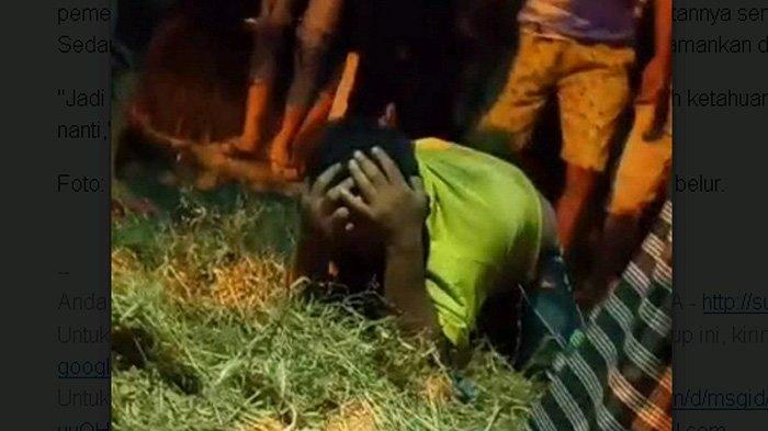 Babak Belur saat Temukan Gabah Kering di Sawah, Warga Mojokerto Teriak 'Ampun Bos'