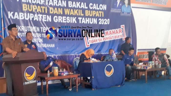 6 Pendaftar Bakal Calon Bupati & Wakil Bupati Pilkada Gresik 2020 Kembalikan Formulir ke DPD NasDem