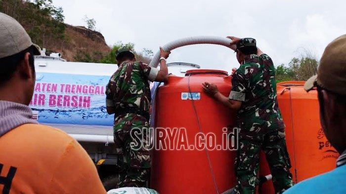 Desa Kekeringan di Kabupaten Trenggalek dapat Pasokan 40 Ribu Liter Air Bersih
