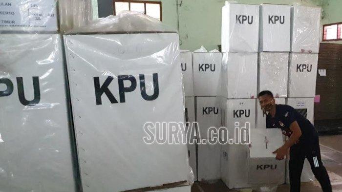 Pilbup Mojokerto 2020, KPU Mulai Distribusikan Logistik Pemilu 844.617 Surat Suara
