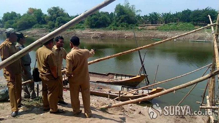 Warga Lamongan Geger Penemuan Perahu Baja di Dasar Sungai Bengawan Solo, Diduga Peninggalan Belanda