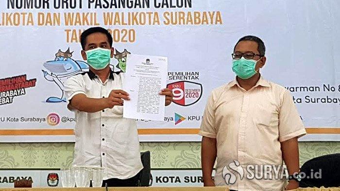 BREAKING NEWS Eri Cahyadi-Armuji dan Machfud Arifin-Mujiaman Resmi Jadi Paslon Pilwali Surabaya 2020
