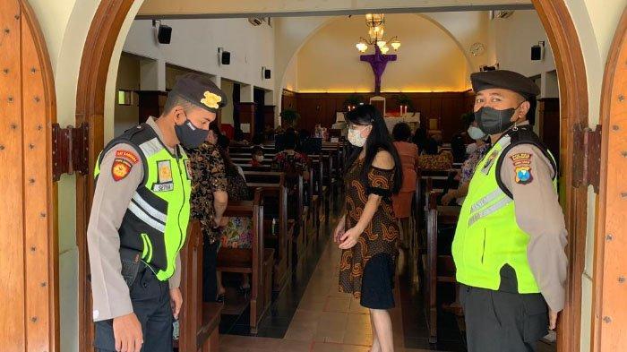 Jelang Perayaan Paskah, Polda Jatim Perketat Penjagaan Gereja di Jawa Timur