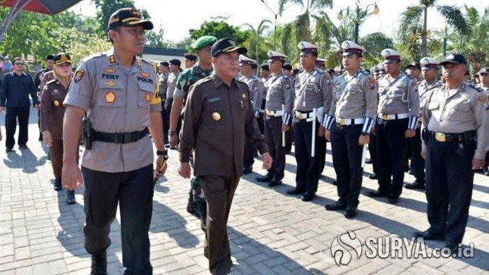 Jelang Pelantikan Presiden dan Wapres RI, Ratusan Petugas Pengamanan di Lamongan Patroli 24 Jam