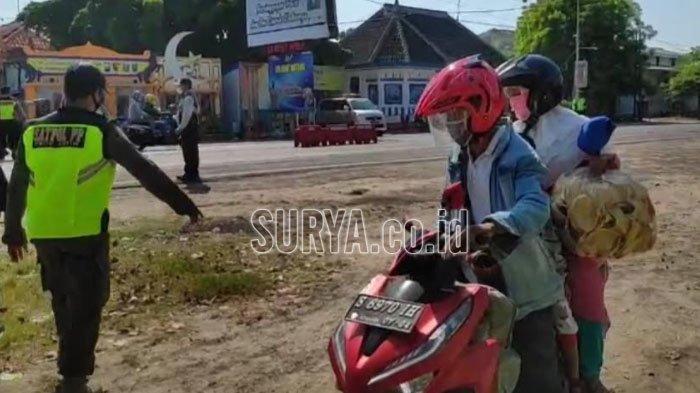 Penyekatan Arus Balik di Perbatasan Jatim-Jateng, Pengendara : Saya Cuma Mau ke Kecamatan Sebelah