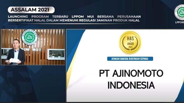Ajinomoto Indonesia Terima HAS Award 2021 dari LPPOM MUI atas Komitmen Terapkan Sistem Jaminal Halal