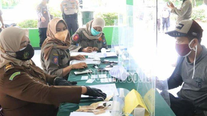 Operasi Yustisi di Perbatasan Kabupaten Tuban, 26 Warga Langgar Prokes Didenda Rp 50 Ribu