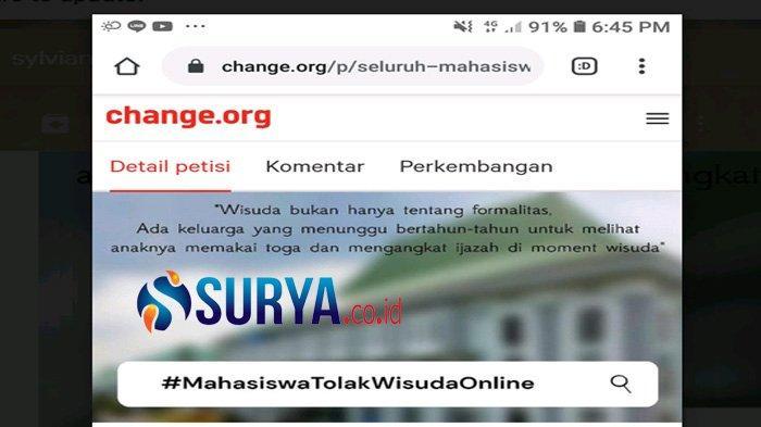 Wisudawan UIN Maliki Sudah Membayar, Buat Petisi Menolak Wisuda Online