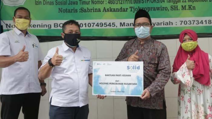 Jelang Ulang Tahun PTPN Group, PTPN X Salurkan Donasi ke Panti Asuhan