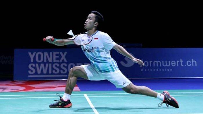 Hasil Swiss Open 2019, Penyebab Anthony Ginting Kalah Atas Shi Yuqi dan Gagal ke Final