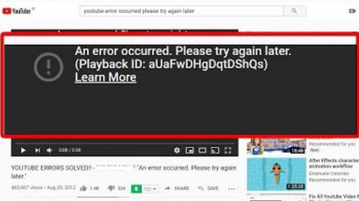 Penyebab YouTube Down atau Error Tidak Bisa Putar Video Pagi Ini, Begini Penjelasan Pihak Terkait