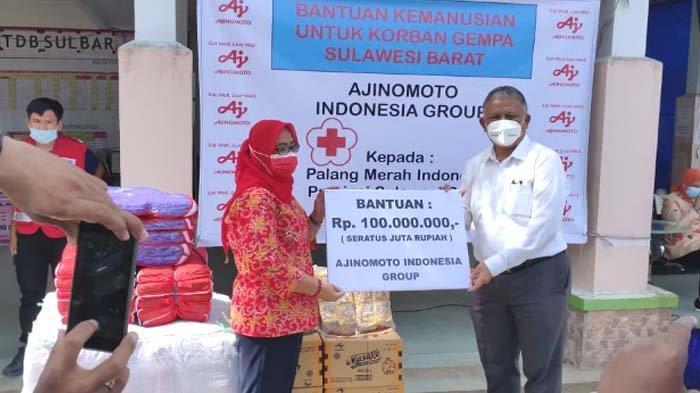 Ajinomoto Indonesia Gandeng PMI Serahkan Bantuan untuk Korban Bencana di Kalimantan dan Sulawesi