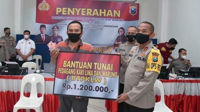 Para PKL dan Pemilik Warung di Lamongan Lega Mendapat Bantuan Modal Rp 1,2 Juta