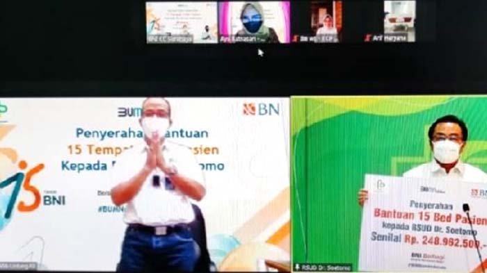 BNI Kanwil Surabaya Serahkan CSR 15 Bed kepada RSUD Dr Soetomo