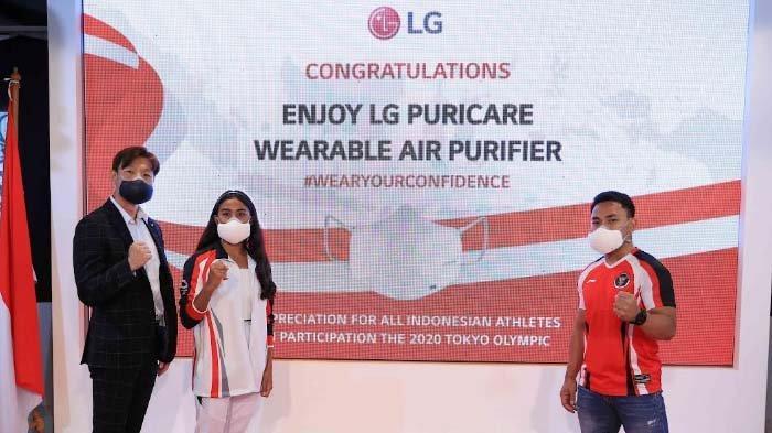 LG PuriCare Wearable Air Purifier Bentuk Apresiasi Prestasi Atlet Indonesia Kelas Dunia