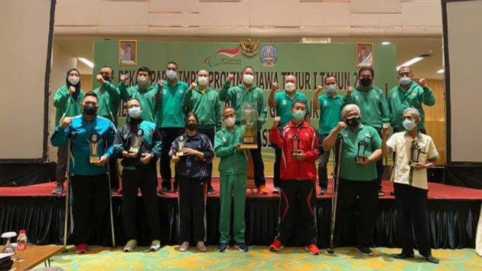 Kota Kediri Berhasil Raih Juara Umum Ketiga di Pekan Paralimpik Provinsi Jatim 2021