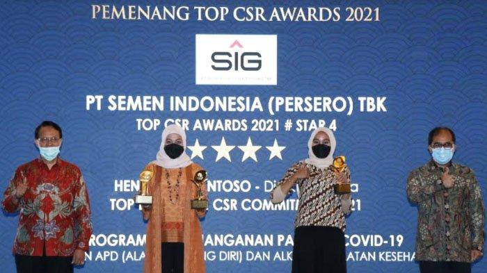 SIG Raih 3 Penghargaan di Ajang TOP CSR Awards 2021 untuk Kategori ini