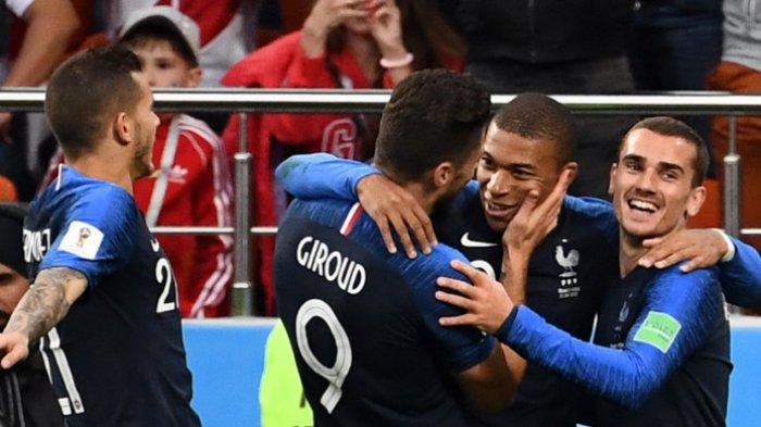 Hasil Akhir Prancis Vs Peru - Kylian Mbappe Antar Les Bleus ke Babak 16 Besar Piala Dunia 2018