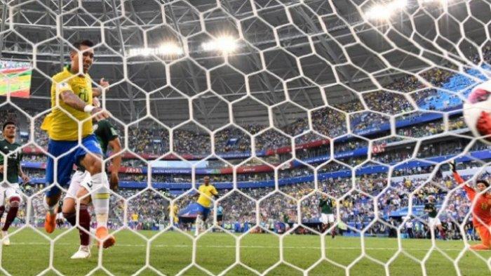 Hasil Piala Dunia 2018 Brasil vs Meksiko, Skor Akhir 2-0 Antar Tim Samba ke Perempat FInal