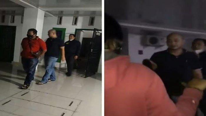 Pelaku penganiayaan perawat saat digelandang polisi