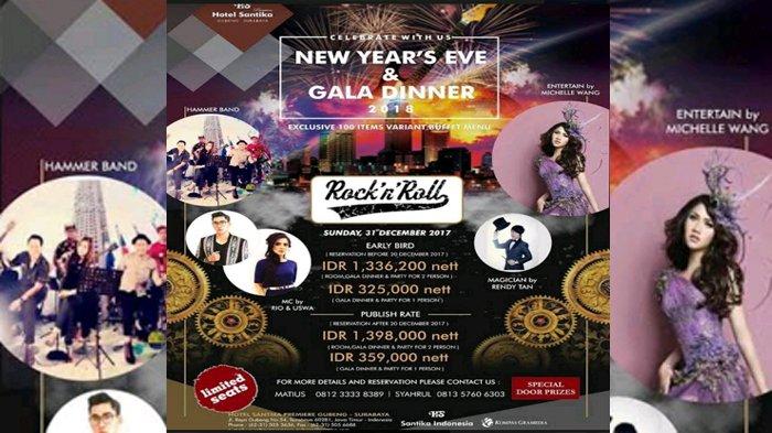 Acara Malam Tahun Baru, Tampil ala Rock n Roll di Hotel Santika Premiere Gubeng